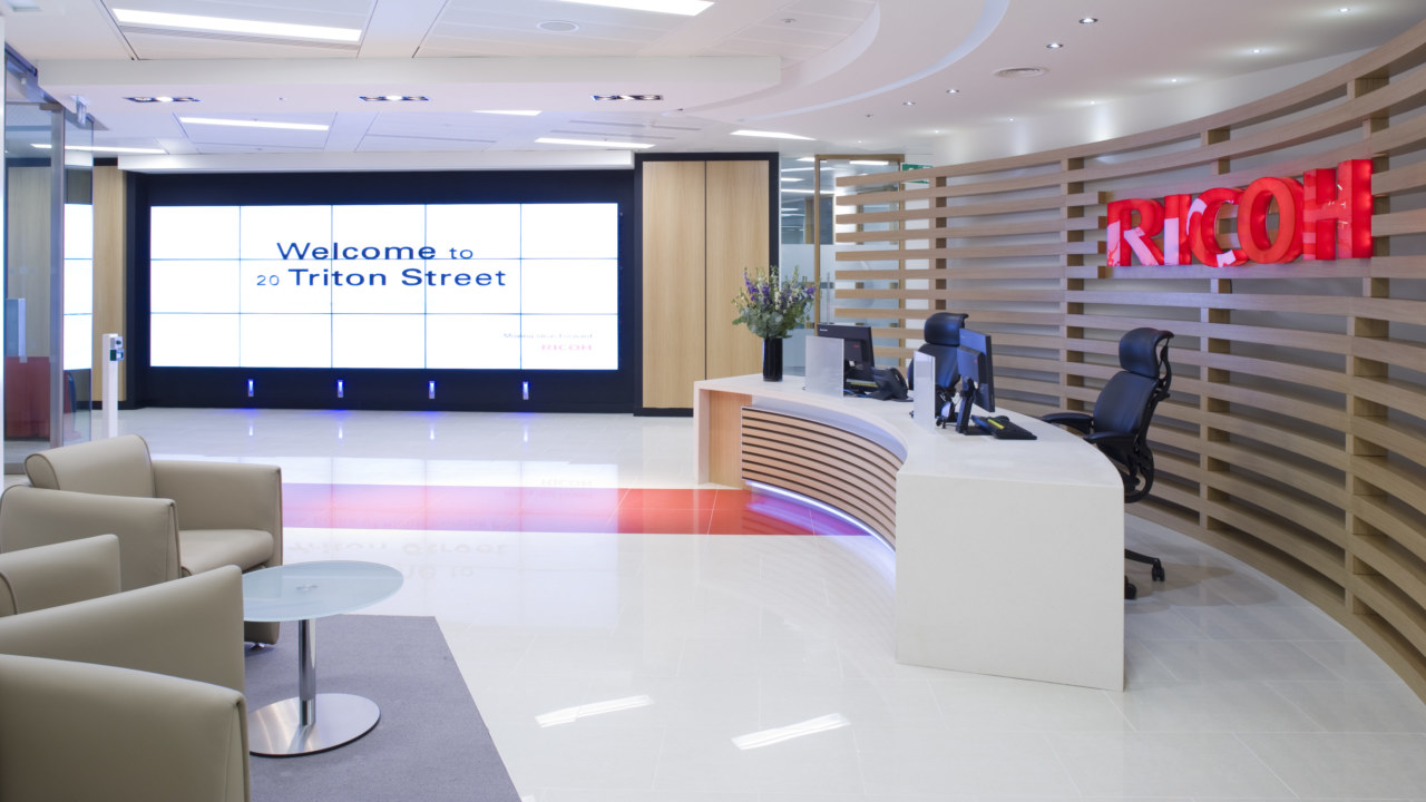 office design and fit out for Ricoh