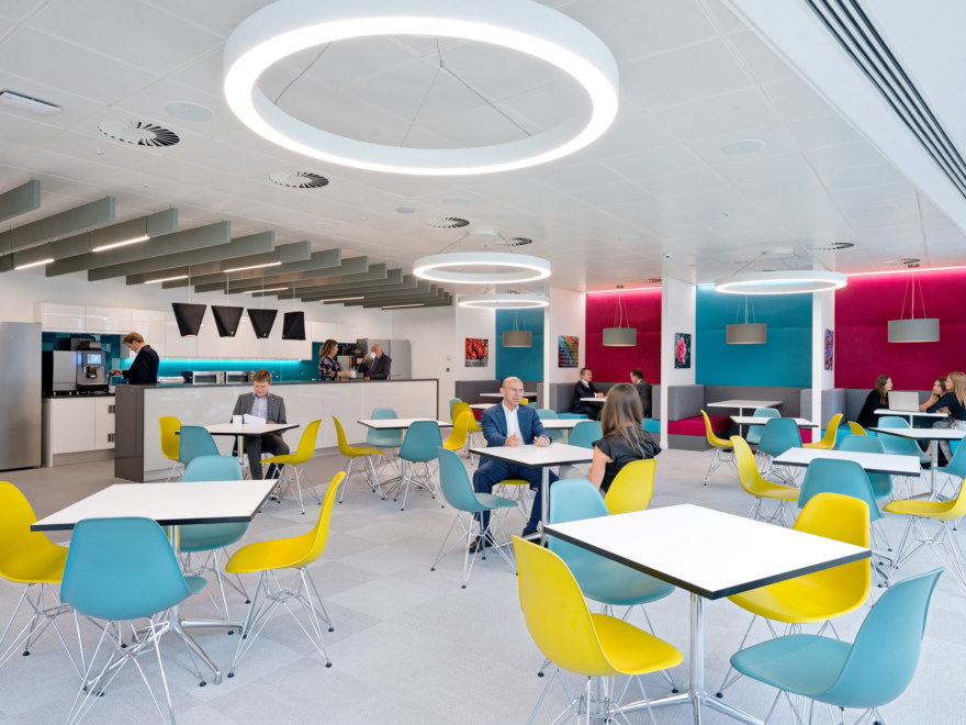 Cafeteria design for legal firm Wedlake Bell