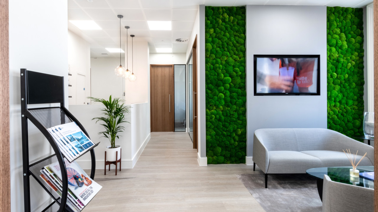 Office Reception design for Iona Capital