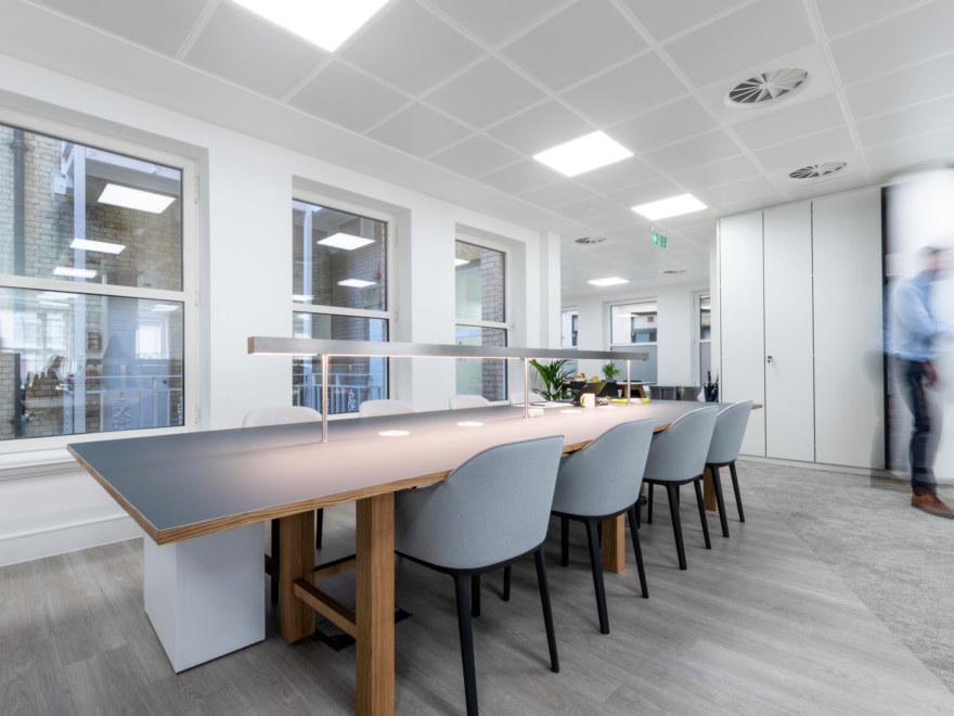 Breakout space designed for Iona Capital by Oktra