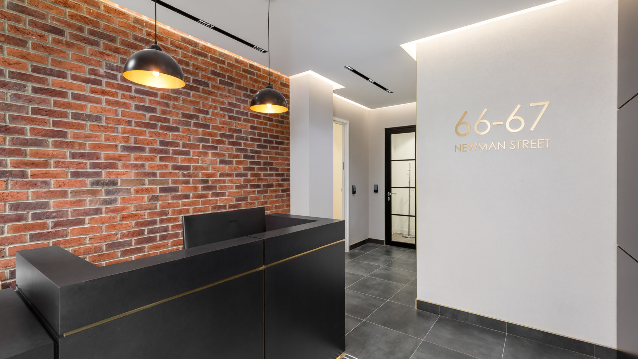 Newman street coworking space, designed by Oktra