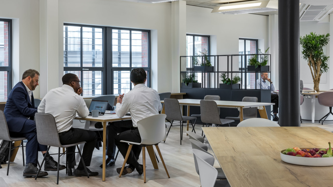 Views through different workspaces in office fit out
